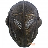 Temple Knight Protective Helmet Mask for Airsoft Paintball - Dark Golden