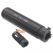 5Ku KAC Style QD Extend Suppressor -14mm CCW w/ Flash Head for Airsoft M4 / M16 AEG