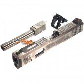 Archives WEI-E Custom Aluminum Slide S Type for WE Marui G17 GBB (Silver Barrel)