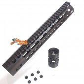 CNC Aluminum Key Mod 12 inch Rail system for M4 AEG