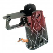 MIC Custom Frame Grip for Marui WE Hi-CAPA GBB  (Black mix Red)