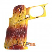 MIC Custom Frame Grip for Marui WE Hi-CAPA GBB  (Red mix Mango)