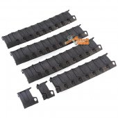 D-BOYS Rail Cover Set (Black) for 20mm RAS Handguard