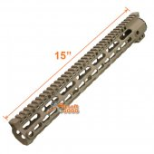 M4 Limited Ver 15 inch Extreme Light MI Style Key Mod Rail for Marui Std ICS Airsoft AEG - Dark Earth