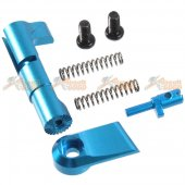 AIP Adjustable Extended Magazine Catch for Hi-Capa Ver. 2 (Ruled, Blue)