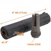 5KU Silencer with -14mm CCW Flash Hider (steel) for Scar AEG