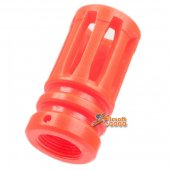 Apple Airsoft M4 orange plastic flash hider CCW