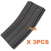 E&C Metal Mid-Cap 160rd Magazine for M4 AEG (Black) 3PCS
