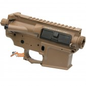 APS M4 Upper & Lower Receiver (With Logo) for ASR Series AEG (Dark Earth)