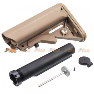 Army Force Crane Stock w/Stock Tube for M4/M16 Series AEG (Coyote Brown)