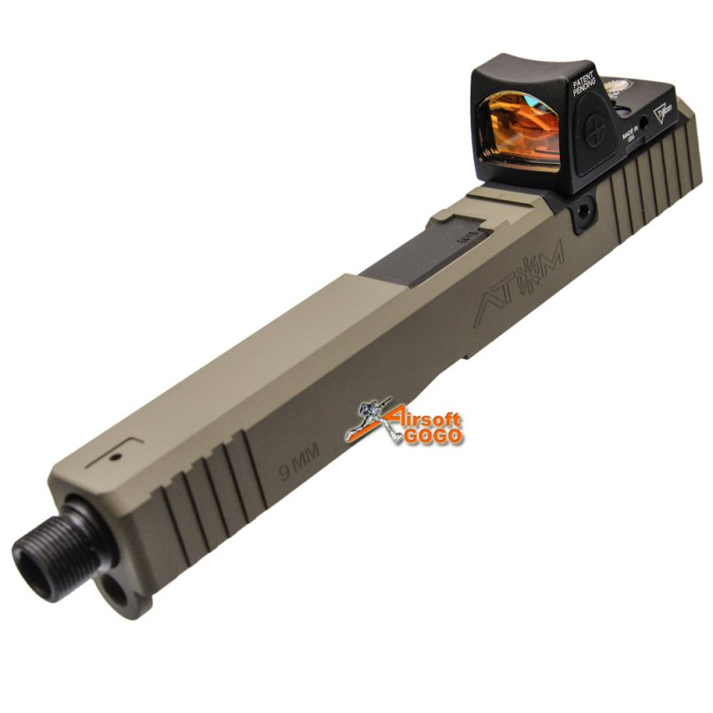 pts unity tactical atom slide set with rmr red dot sight for tokyo marui g17 series gbb