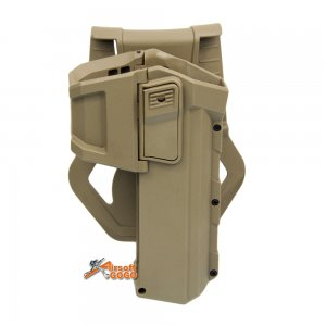 Glock Polymer Hard Case Movable Holsters for G17/G18/G19 Airsoft (Tan)