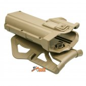 polymer hard case movable holsters g17 g18 g19 airsoft tan