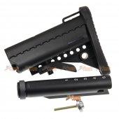 m4 m16 aeg fiber mod crane stock extension tube black