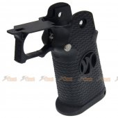 AW Custom HX -00002 Grip Kit for Marui, WE Hi-Capa 5.1 Series Gas Blowback Airsoft Pistols - Black