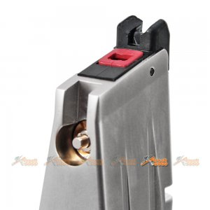 aw custom 30rds hxmg06 5.1 gas magazine airsoft gbb silver marui we
