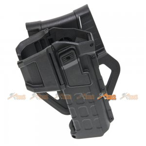 M1911 Army Force Polymer Hard Case Movable Holsters for Marui, WE 1911 Airsoft (Black)