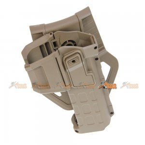 M1911 Polymer Hard Case Movable Holsters for Marui, WE 1911 Airsoft GBB Pistol (DE)