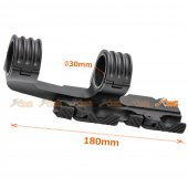30mm Dual QD Scope Mount for Airsoft 20mm RAS RIS Rail (Black)