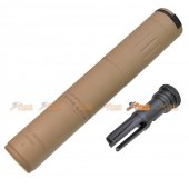 SPR/M4 Silencer with 14mm- CCW Flash Hider (TAN)