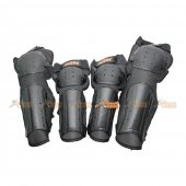 Knee & Elbow Protective Pads for Airsoft (Black)
