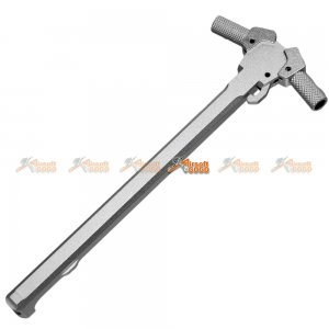 Aluminum Cocking Handle for WE/WA/G&P/INO M4 Airsoft GBB Rifle (Silver)