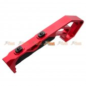 Aluminum Angled Grip for Keymod Handguard Rail (Red)