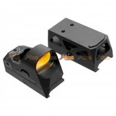 GB 1x25 Mini Reflex Sights 1 MOA Adjustments 3 MOA Dot Reticle Red Dot Sight With 1913 Mount/QD Mount (Black, NO Logo)