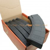 180rd AKM Mid-Cap Magazine for AK Series Airsoft AEG (BK, 5pcs Set)