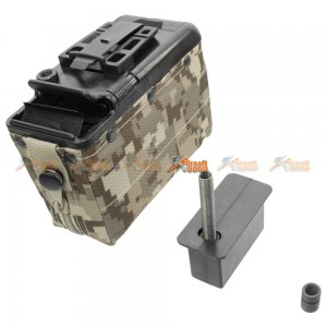 Auto-Winding 1200rd Box Magazine for Classic Army M249 Airsoft AEG