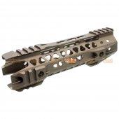 MOTS II 8 Inch Keymod Phantom Handguard for Marui G&P Standard M4 / M16 Series & WA M4A1 Series Airsoft GBB (Sand)