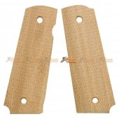 Wood Grip Cover for Tokyo Marui 1911 Airsoft GBB (No.0246)