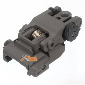 Pop Up Rear Sight for AR15 / M4 / M16 / SR16 / SR25 / HK416 / HK417 20mm Rail Airsoft AEG GBBR
