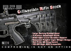 aps sting spring collapsible aeg stock marui krytac standard m4 aeg
