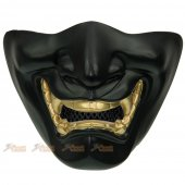 TMC Samurai Mask (L Size / Black, Glod Teeth )