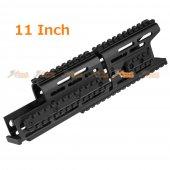 11 Inch Aluminum Keymod Handguard for CYMA E&L AK74 AEG Series & GHK AK74 GBB