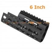 6 Inch Aluminum Keymod Handguard for CYMA E&L AK74 AEG Series & GHK AK74 GBB
