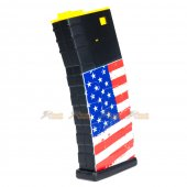 APS 300rd U-Mag Hi-Cap Magazine for M4 / M16 / UAR Series Airsoft AEG Rifles (US Flag)