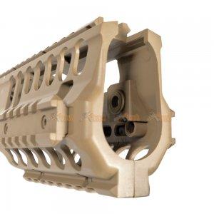 ABS Plastic MP5K / PDW, MOD5K Rail for Airsoft Marui, JG, Classic Army, Galaxy AEG (TAN)