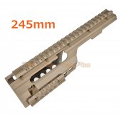 ABS Plastic MP5K / PDW, MOD5K Rail for Airsoft Marui, JG, Classic Army, Galaxy AEG (TAN)