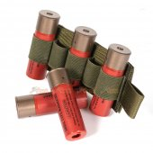 5rd Shotgun Shell Holder with Hook Backing (Foliage Green)