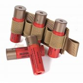 5rd Shotgun Shell Holder with Hook Backing (Coyote Brown)