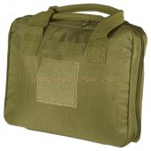 Carrying Pistol Bag with 5 Storage Pockets  (Small Size, Olive Drab)