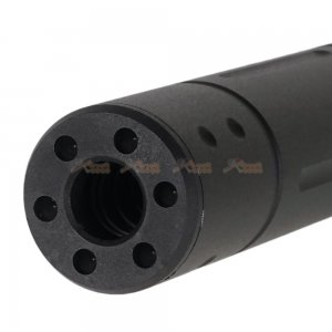 cyma 155mm bw suppressor 14mm ccw type a no logo aeg black