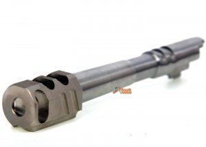 IPSC(Open) Stainless Steel Outer Barrel  with Chris Copper Compensator (Silver) for Marui Hi-Capa 5.1