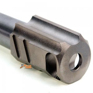 ipsc open stainless steel outer barrel chris copper compensator marui hi capa 5.1 gbb