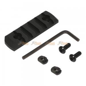 M-Lok 5-Slot Keymod Rail / Picatinny Section Rail for Airsoft Keymod Handguard Rail System (Black)