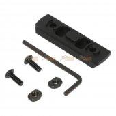 mlok 5 slot keymod rail picatinny section rail airsoft keymod handguard rail system black
