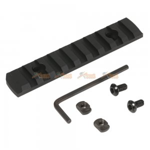 M-Lok 9-Slot Keymod Rail / Picatinny Section Rail for Airsoft Keymod Handguard Rail System (Black)