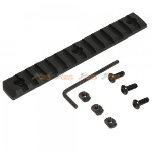 M-Lok 13-Slot Keymod Rail / Picatinny Section Rail for Airsoft Keymod Handguard Rail System (Black)